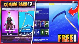 How To GET The SCYTHE PICKAXE In Fortnite! - NEW Fortnite SCYTHE Pickaxe Returning!?