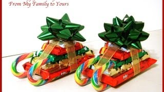 Christmas Candy Cane Sleigh How To - You've Been Elfed Series - Day 22