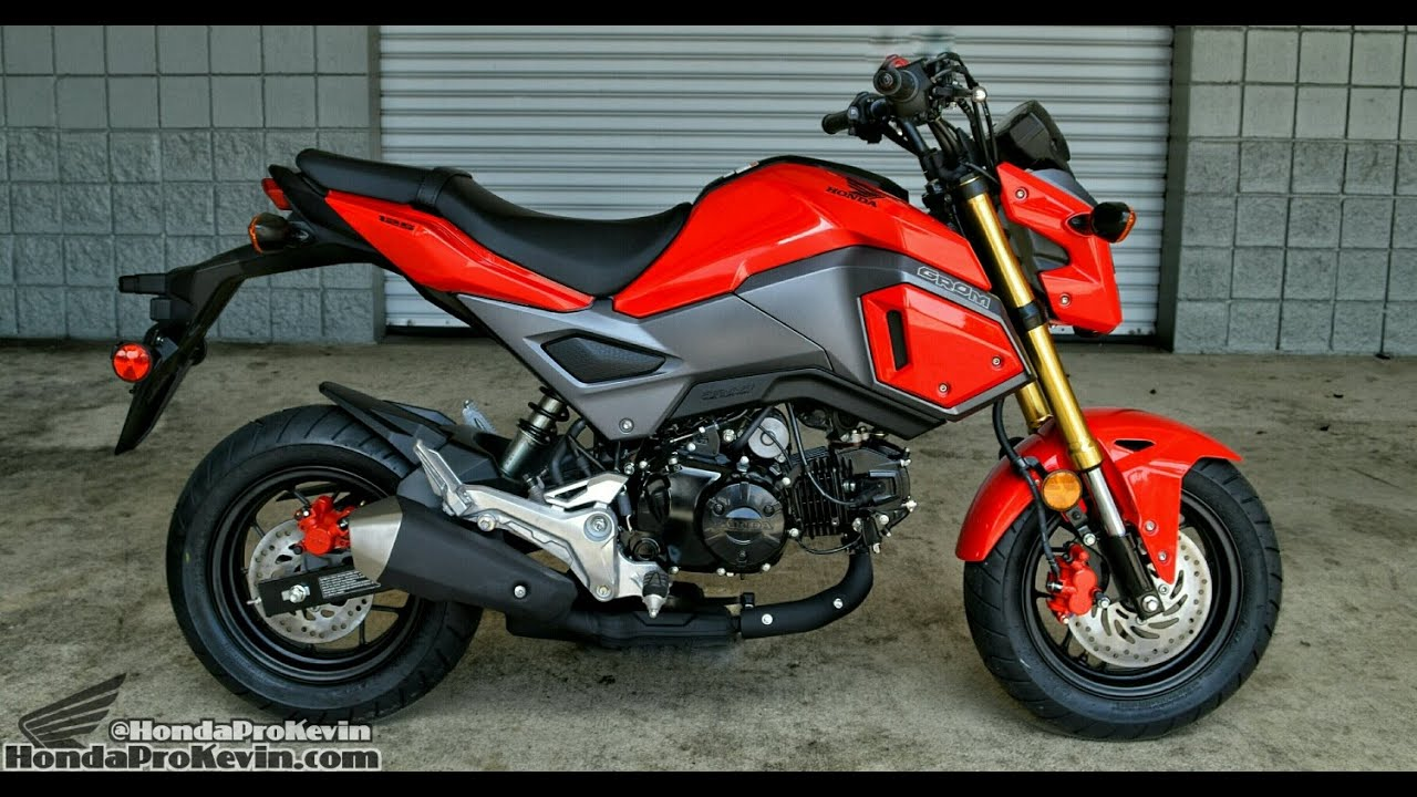 2015 Honda Grom >> 2017 Honda Grom 125 Motorcycle Walk-Around / Start-Up Video | Review at HondaProKevin.com (Red ...