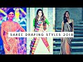 Saree draping in modern style || Latest saree wearing styles 2018