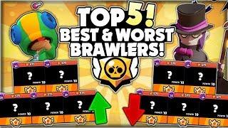 The TOP 5 BEST & WORST Brawlers In Brawl Stars! - Post Global Release Best & Worst Brawlers!