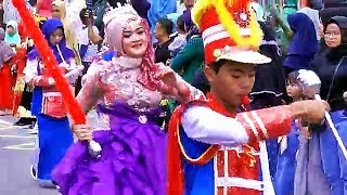 Mayoret cantiknya Gesit dan lincah (Pawai Kemerdekaan  2018 di Kota Padang Panjang)