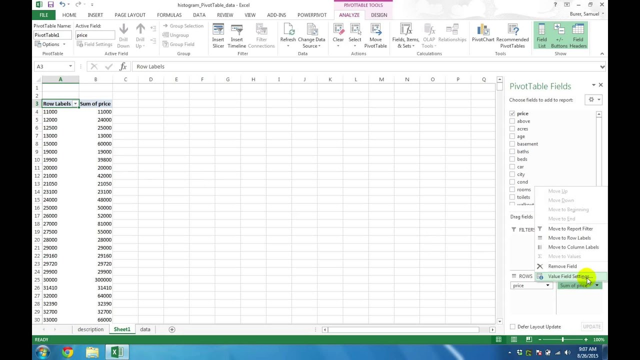 how to create a histogram in excel 2007 youtube pareto chart excel 2007 youtube how to create. Black Bedroom Furniture Sets. Home Design Ideas