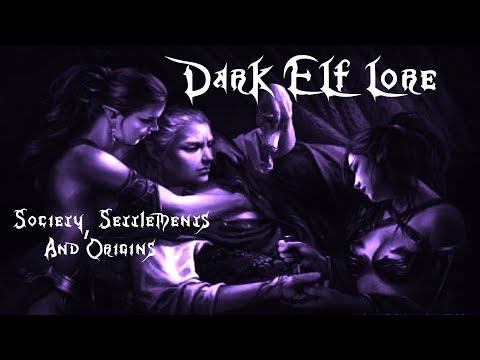 Total War: Warhammer Dark Elf Lore Society, Settlements, Religion, and Origin