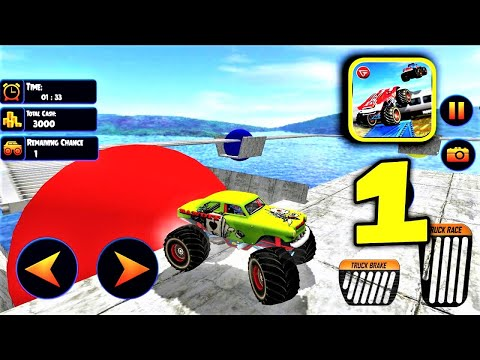 US Monster Truck Driving Impossible Truck Stunts| Best Android Games For Airplane Mode |Gameplay P1