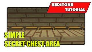 Simple Secret Chest Area (minecraft Xbox Tu24/cu12/playstation Cl1.16)
