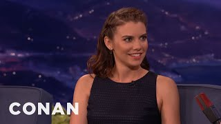 Lauren Cohan Wants A Zombie Fitbit  - CONAN on TBS thumbnail