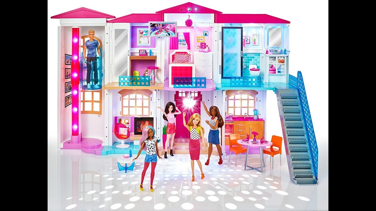 Barbie Hot Living Theatre Doll House Accessories New Room Tv Set