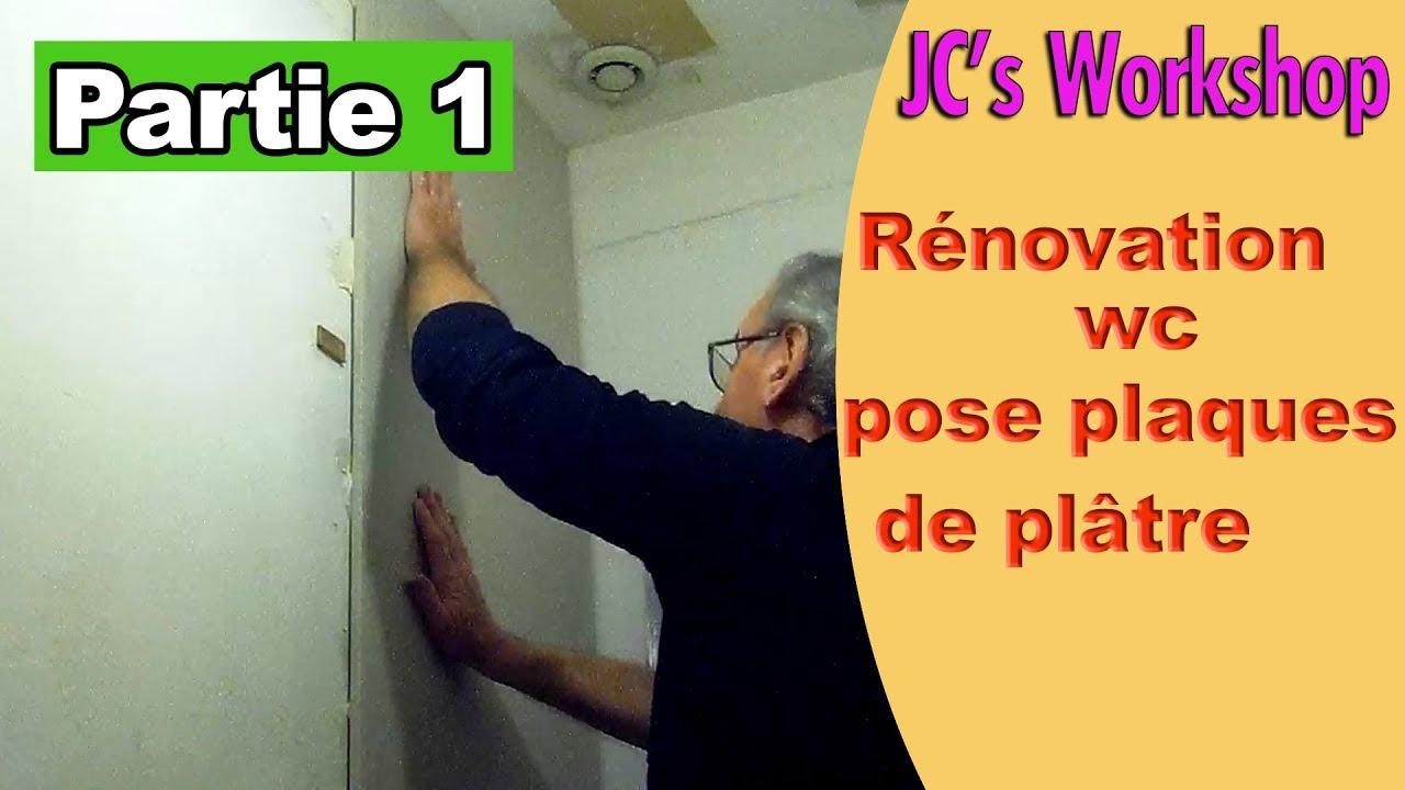 renover transformer les wc plaques de platre sur carrelage partie 1 102