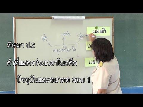 สังคมฯ ป.2 คำที่แสดงช่วงเวลาในอดีต ปัจจุบันและอนาคต ตอน 1 ครูจรรยา ใจดีเจริญ