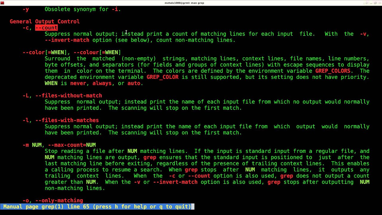 GREP Basics Part 3 Counting Linux Shell Script Tutorial