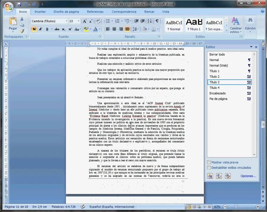 Formato de Texto en Word 2007 - YouTube