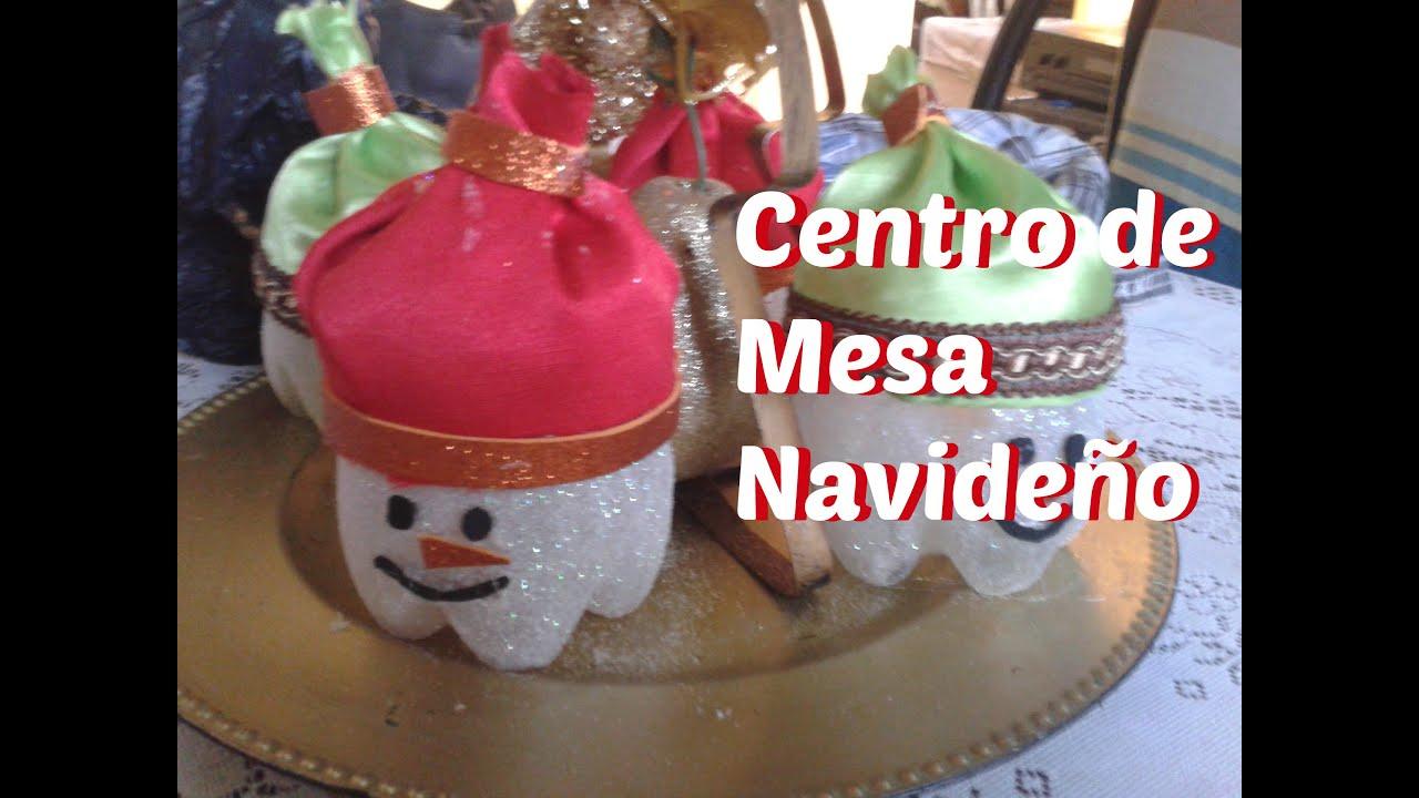 Centro de mesa navide o adornos reciclados youtube - Adornos de mesa navidenos ...