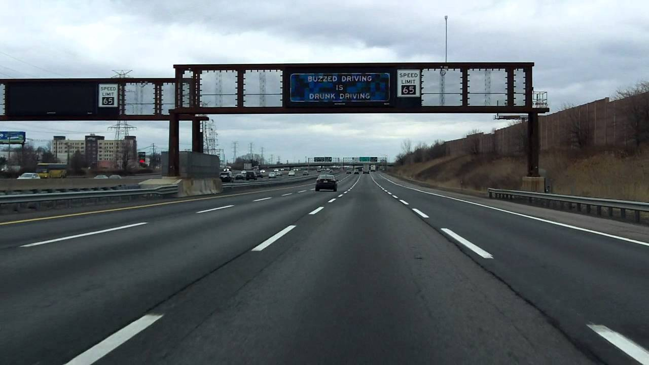 New Jersey Turnpike (Exits 11 to 13) northbound (Truck Lanes)