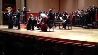 Bach BBV 140, Wachet auf, ruft uns die Stimme, Aria (soprano, bass): Wenn kömmst du, mein Heil?