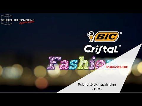 """Publicité Lightpainting BIC Crital Fashion """"Style"""" VA"""