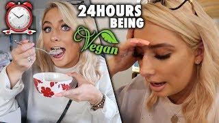 i tried EATING VEGAN FOR 24HOURS!!!