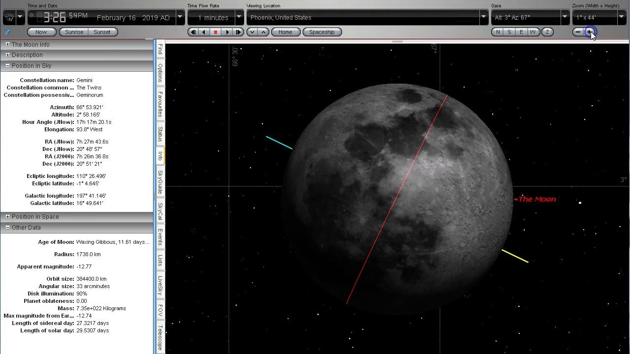Moonrise Simulation Feb 16 2019 for MrThriveAndSurvive