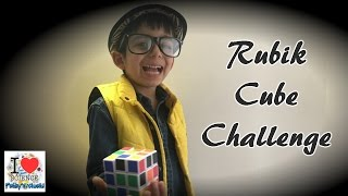 5 year old Kid | How to Solve a 3x3x3 Rubiks Cube | Rubik Cube Challenge | Prakys World