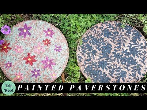DIY Painted Pavestone Garden Art