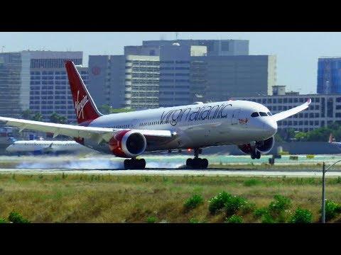 Virgin Atlantic Boeing 787-9 Dreamliner [G-VBZZ] Landing at Los Angeles Intl. Airport (LAX)!
