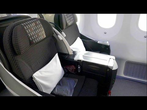 BKK - NRT JAL Business Class Flight - Japan Airlines