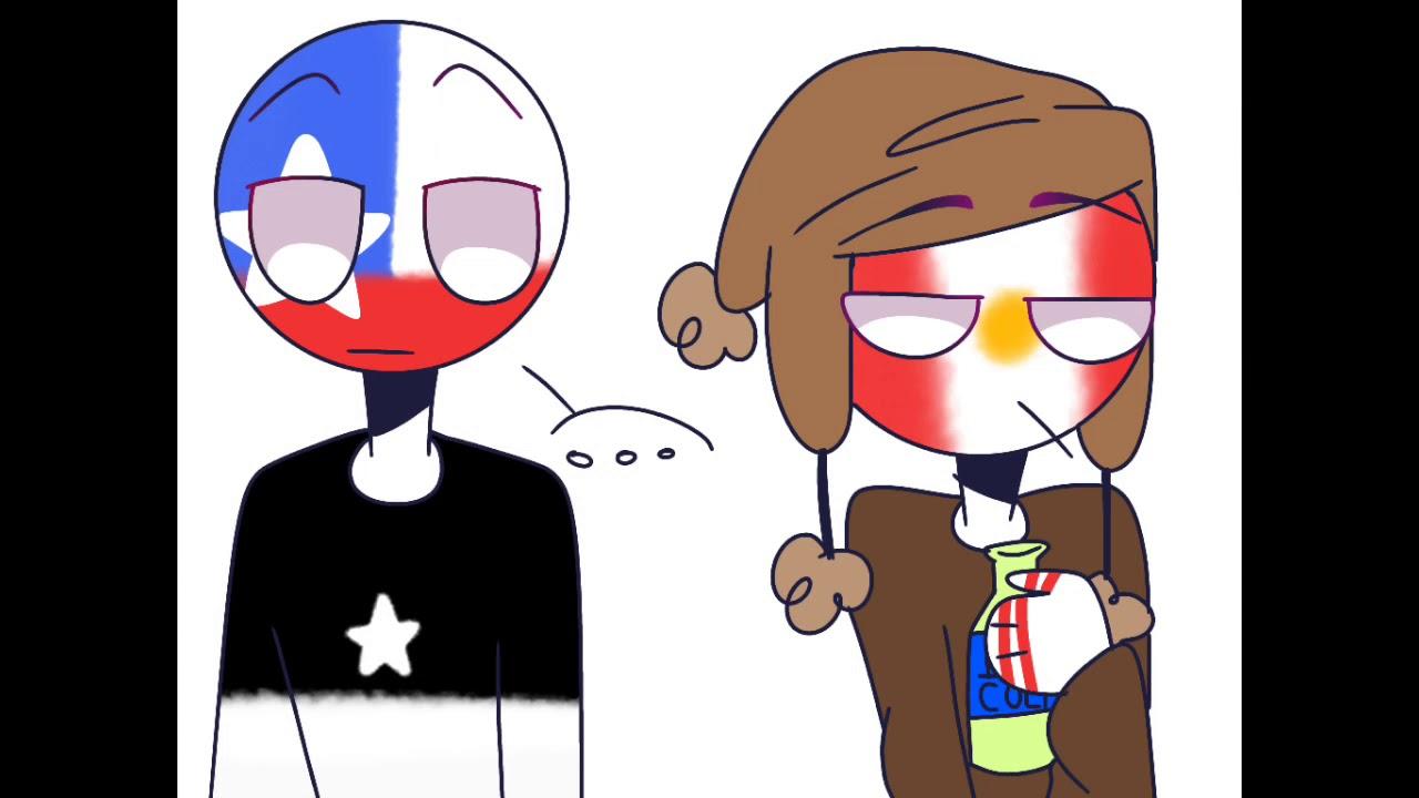 Beso Indirecto Comic Countryhumans La Chiru Peru X Chile Youtube