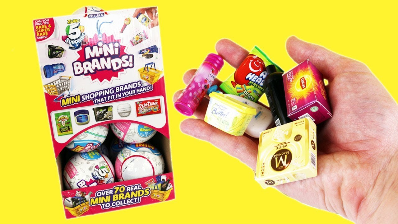 Miniature Tiny Food And Product Brands Blind Bags Mini Brands Full