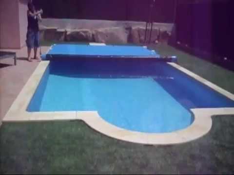 Cubierta automatica de barras video de cierre piscina for Clorador salino casero