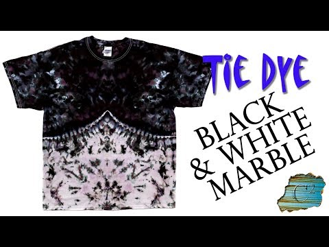 How to Tie Dye: Black & White Marble [Ice Dye] - YouTube