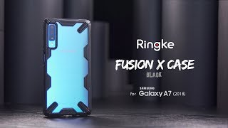 Samsung Galaxy A7 2018 - Shock Absorbing Ringke Fusion X Case