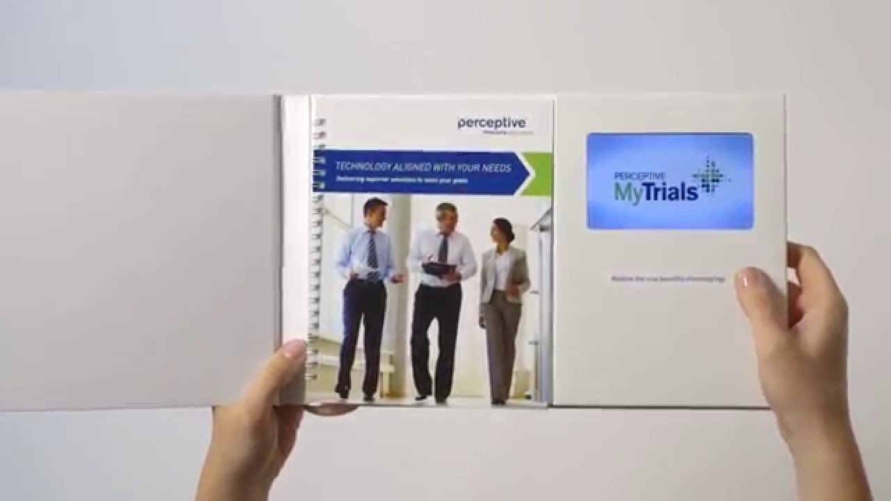 Corporate Video Brochure With 5 0 Screen   Integrated Ring Bound     Corporate Video Brochure With 5 0 Screen   Integrated Ring Bound Booklet