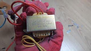 버린 스피커에서 220v 12v 트랜스 추출