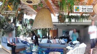 La Guardia Civil desmantela una fiesta privada en Ibiza