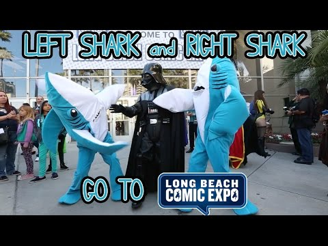 Left Shark & Right Shark Go To Long Beach Comic Expo 2015