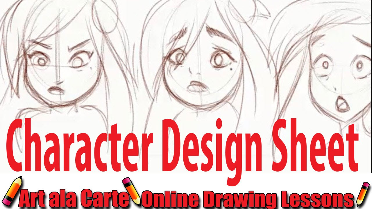 creating a character design sheet youtube