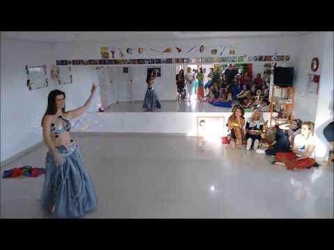 Dança do Ventre - Lu Hana Nur - Encerramento Intensivo 2017 na Escola de Danças Najma Safi