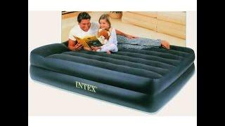 видео Надувная кровать Intex 66720 Queen Rising Comfort