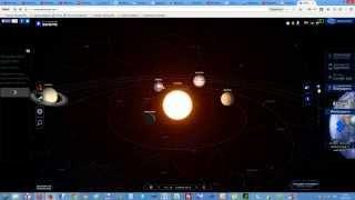 Модель Солнечной системы в 3D online