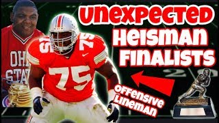 3 of the Most UNEXPECTED Heisman Finalists EVER