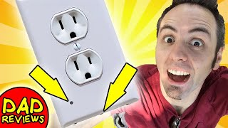 WALL PLATE WITH LED NIGHT LIGHT   Transacore Outlet Wall Plate With LED Night Lights Unboxing
