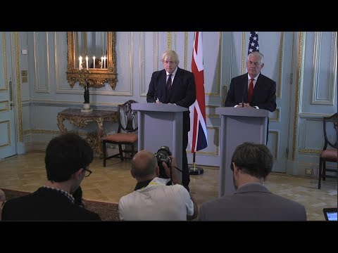 Press Availability With British Foreign Secretary Boris Johnson