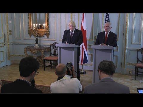 Press Availability With British Foreign Secretary Boris Johnson