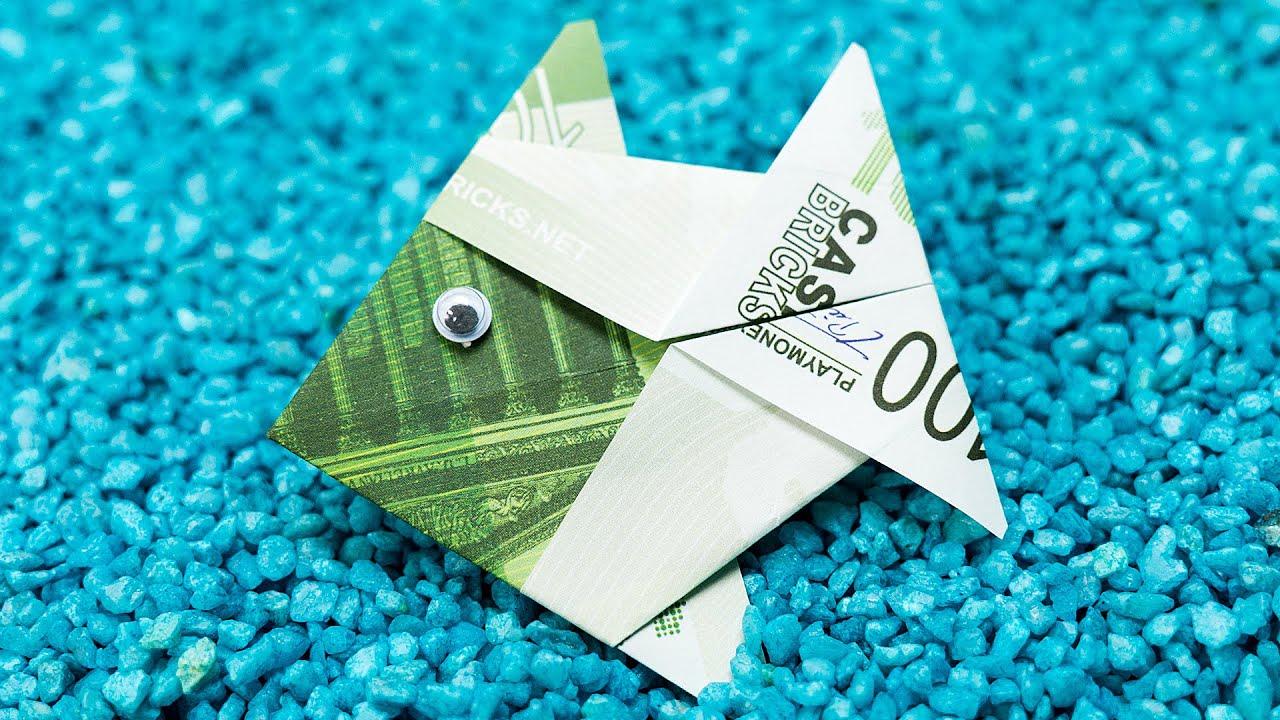 Origami money fish folding crafting diy tutorial youtube jeuxipadfo Choice Image