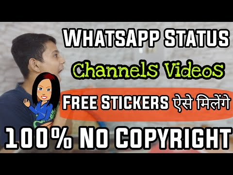How To Download Get Free Png Cartoon Animation Stickers For Creating Whatsapp Status Video | Hindi