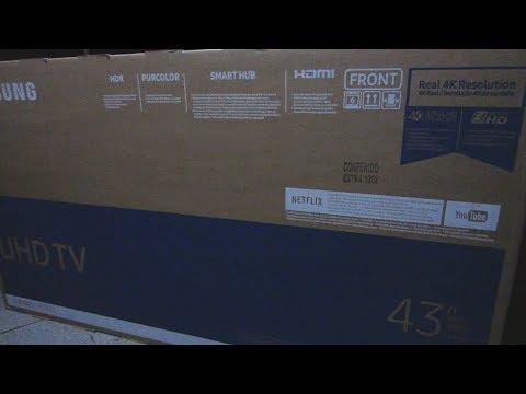 "Unboxing TV 4K 43"" Samsung 43MU6100"
