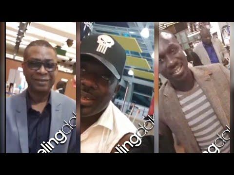 Exclusivité : Youssou Ndour et Pape Diouf dans le même vol direction Bercy ...