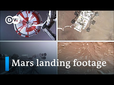 NASA releases first video of it's Mars rover landing | DW News