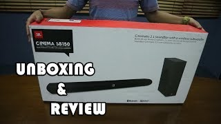 Unboxing - Review - Sound Test JBL CINEMA SB150