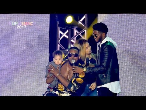 The Moment D'banj Introduced His Cute Son & Stunning Wife Live On Stage (Pics, Video)